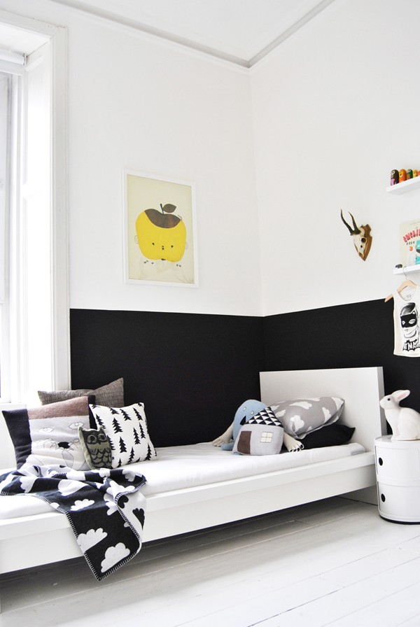 Photo Via Vtwonen Trend Scout Walls Pinted Half Black We Are