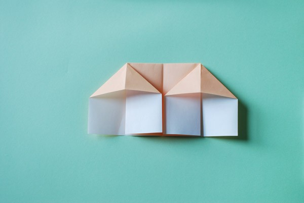 DIY origami dolls house instructions