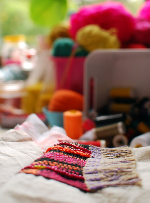 Studio of textile artist Liz Payne. Photo: Lisa Tilse for We Are Scout