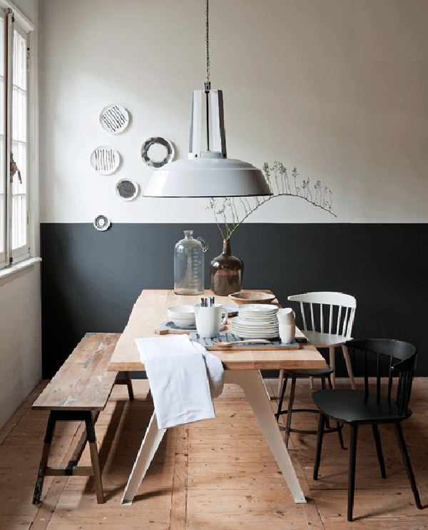 Apts Magazine: Trend Scout: Half Painted Walls In Black