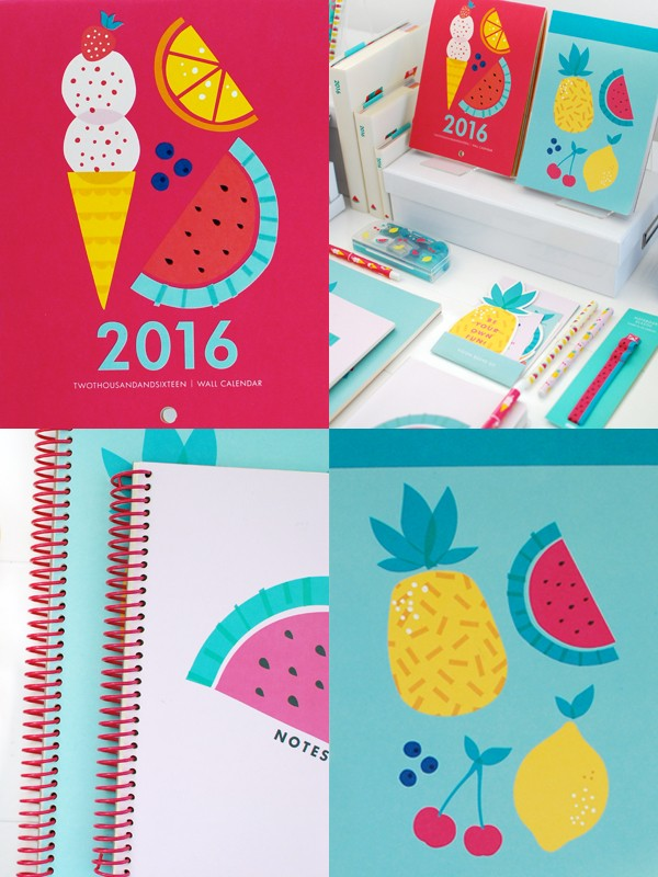 kikki.K 2016 calendars sneak peek via We Are Scout