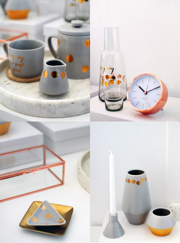 kikki.K copper homewares via We Are Scout