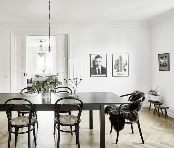 A light filled apartment in Sweden