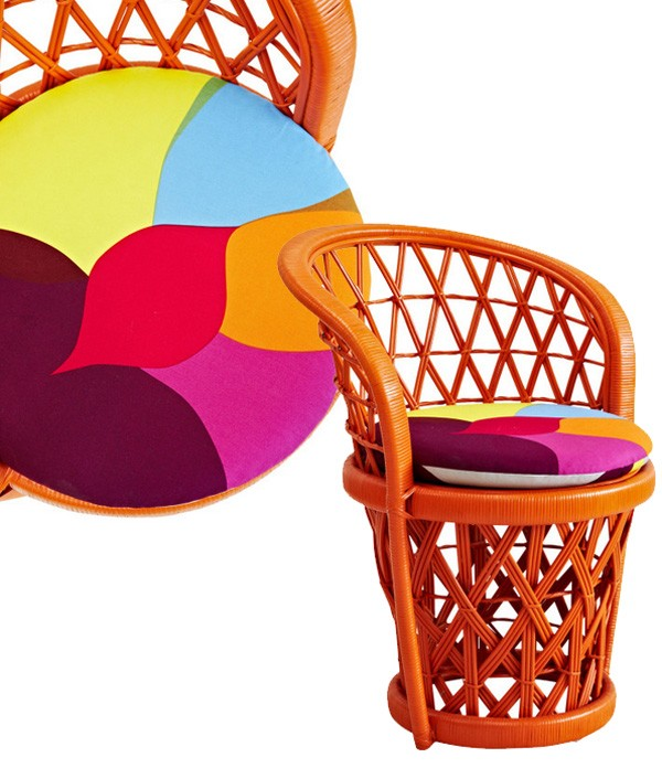 The Family Love Tree dining chair with Marimekko cushion