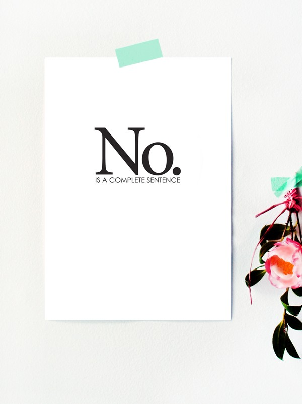Free printable art poster: No.