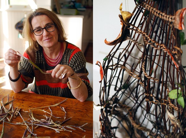 Fiber artist Nicole Robins in her Sydney studio - photo Lisa Tilse