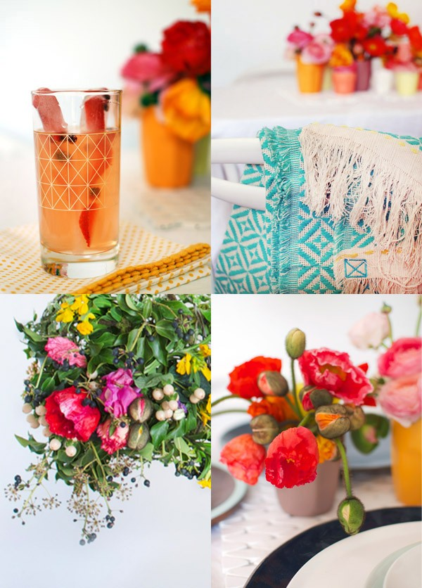 BLOOMING BEAUTY! How to style the ultimate spring brunch tabletop. Photos and styling by Lisa Tilse for We Are Scout.