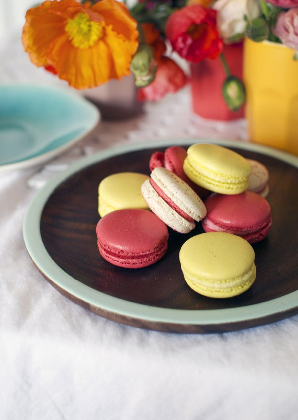Set the scene for macarons with a blooming gorgeous table setting. Photography and styling by Lisa Tilse for We Are Scout.