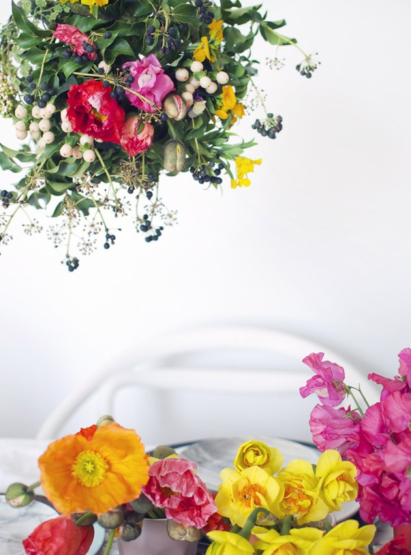 Make a hanging garden centrepiece for your table. Photography and styling by Lisa Tilse for We Are Scout.