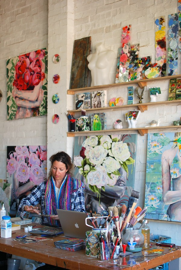 Studio of Australian artist Jessica Watts. Photo by Lisa Tilse for We Are Scout.