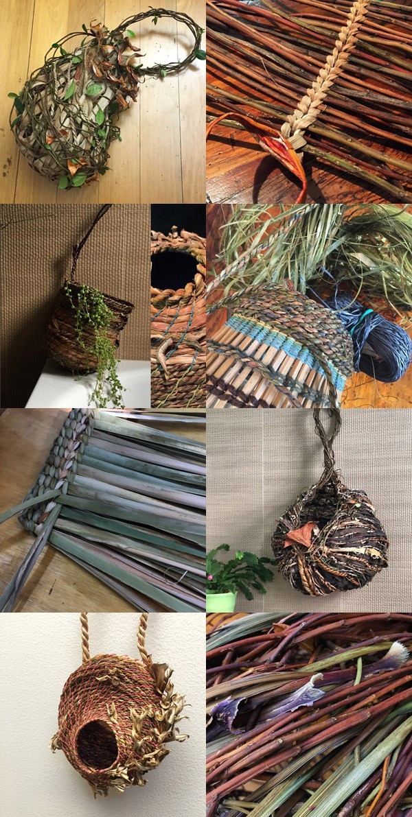 Fiber artist Nicole Robins aka Loosely Woven Basketry on Instagram