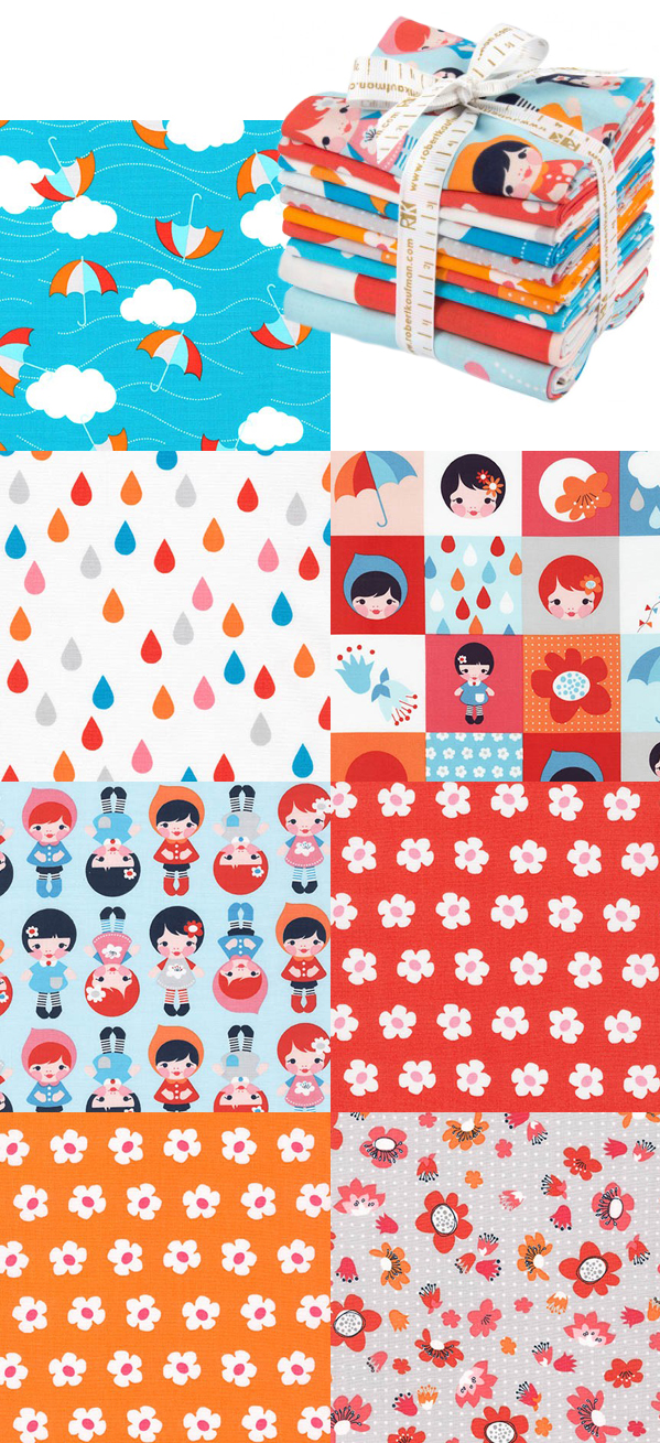 Whatever the Weather fabric range - Lisa Tilse, the red thread for Robert Kaufman - Cloud Palette