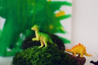 Kids craft: How to make a dinosaur playscape