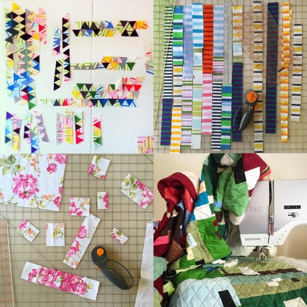 Quilt artist Drew Steinbrech's studio