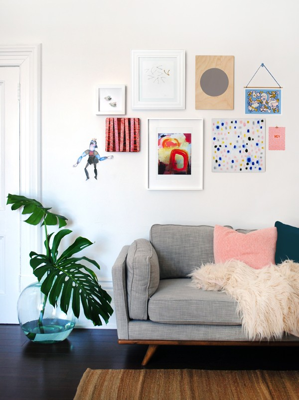 Gallery Wall - Etsy affordable art - Photo: Lisa Tilse for We Are Scout