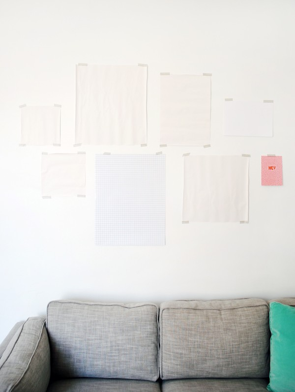 Gallery Wall layout - Etsy affordable art - Photo: Lisa Tilse for We Are Scout