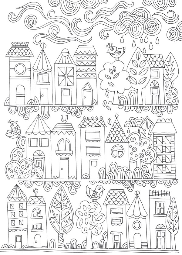 Free Colouring Poster Tiny Town We Are Scout Printable Coloring Posters