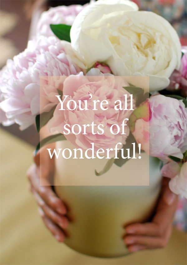 Free printable poster: You're all Sorts of Wonderful!