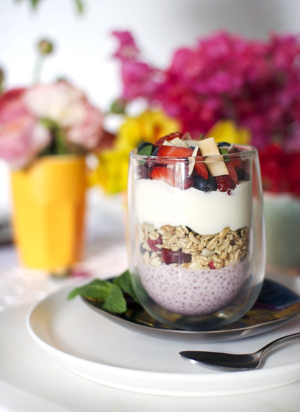 Recipe: Layered Strawberry Chia Brunch Bowl