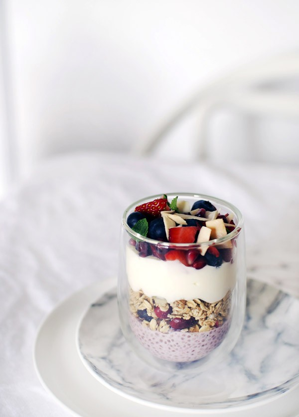Recipe: Layered Strawberry Chia Brunch Bowl