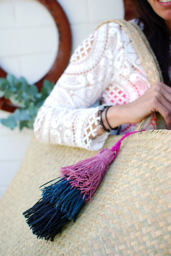 Learn how to make a layered raffia tassel