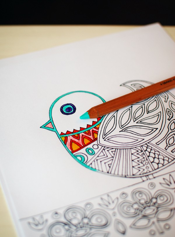 Free colouring printable. Lisa Tilse for We Are Scout.