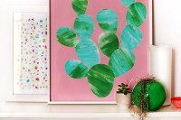 TUTORIAL: Make a painted cactus artwork