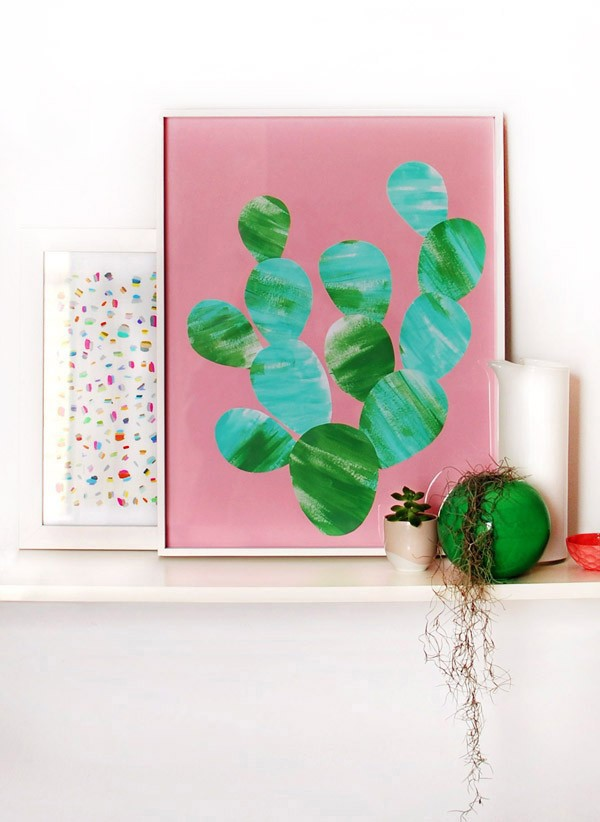 Paint your own cactus artwork