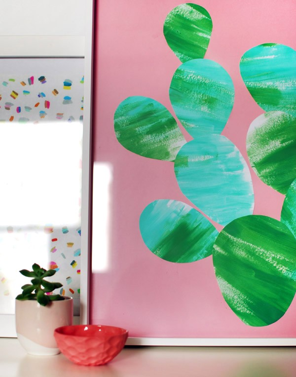 Easy cactus artwork you can make with your kids