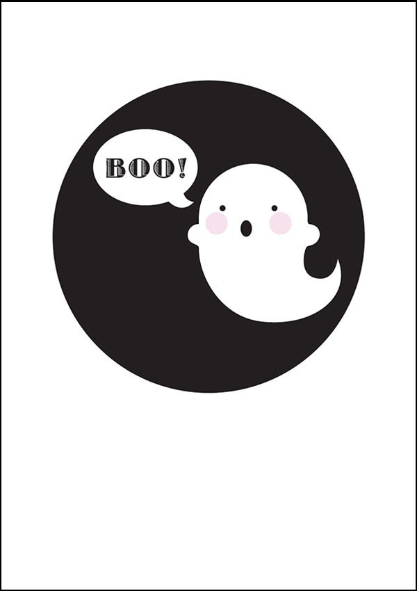 graphic about Printable Poster referred to as No cost PRINTABLE POSTER: Tremendous kawaii ghost. Boo! - We Are Scout