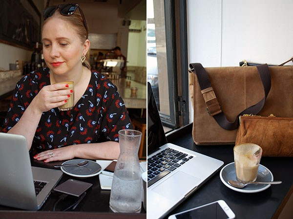 Working on the go with Rebecca Lowrey Boyd, editorial director of We Are Scout - and her wardrobe of on-the-go techy gadgets.