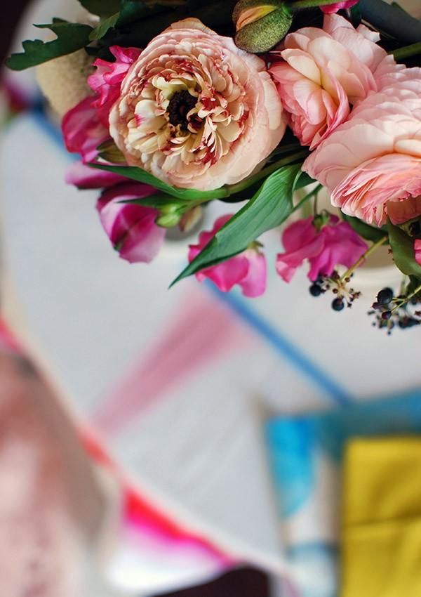 Beautiful details from our DIY flower chandelier.