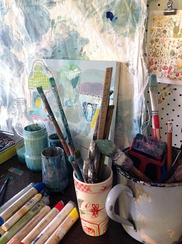 Studio tour and interview with Sydney artist emily Besser