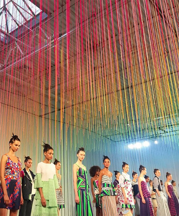 Hot Tea installation at New York Fashion Week 2015.