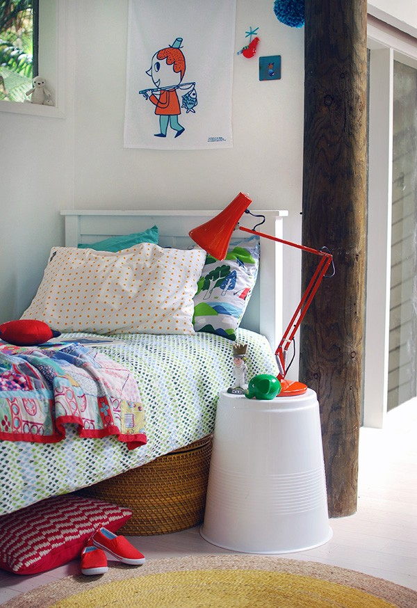 Cute bedside table: Target's $12 giant plastic cup stool