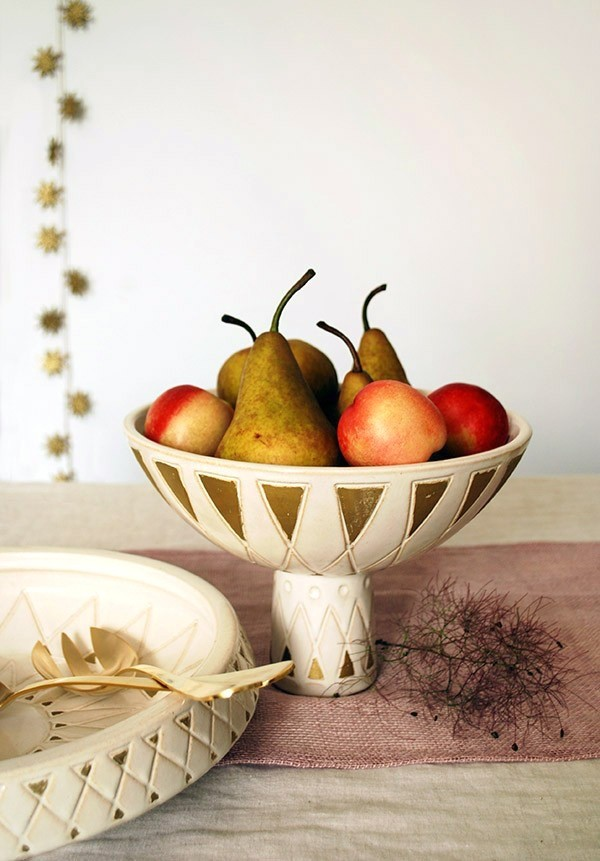 Gorgeous midcentury inspired centrepiece bowls from West Elm.