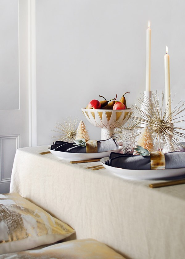 Create a mid-century inspired, rose-gold Christmas table with our step-by-step guide.