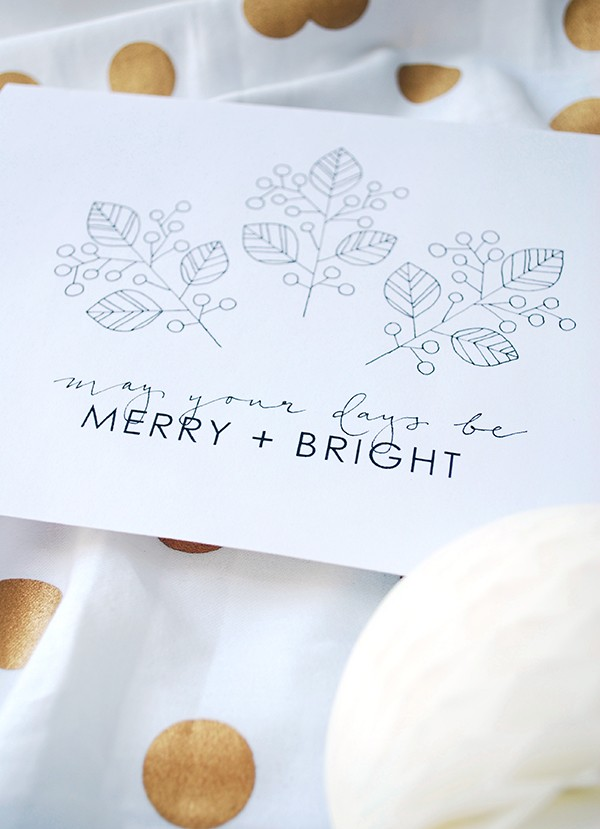 Free printable Christmas Cards - Lisa Tilse for We Are Scout