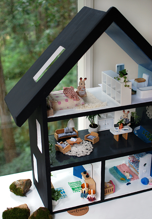 How To Paint A Doll House With A Scandinavian Summer House