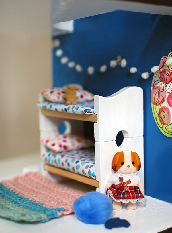 Scandi summer house-style doll house makeover. Photos by Lisa Tilse for We Are Scout.