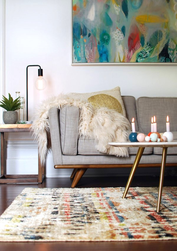 TOP 20 posts on We Are Scout 2015 - Lisa's winter living room makeover