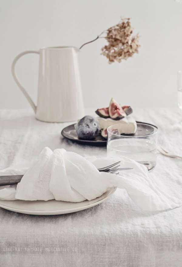 Hale Mercantile table linen. Photo by Line Kay