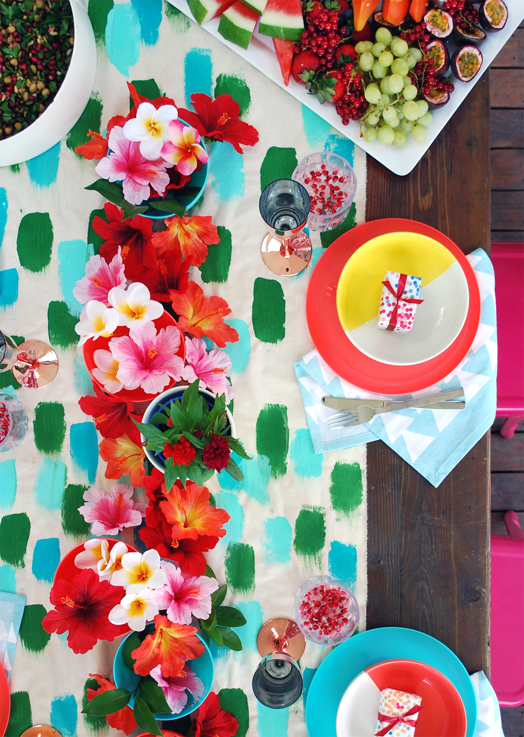 tutorial make a hand painted table runner we are scout