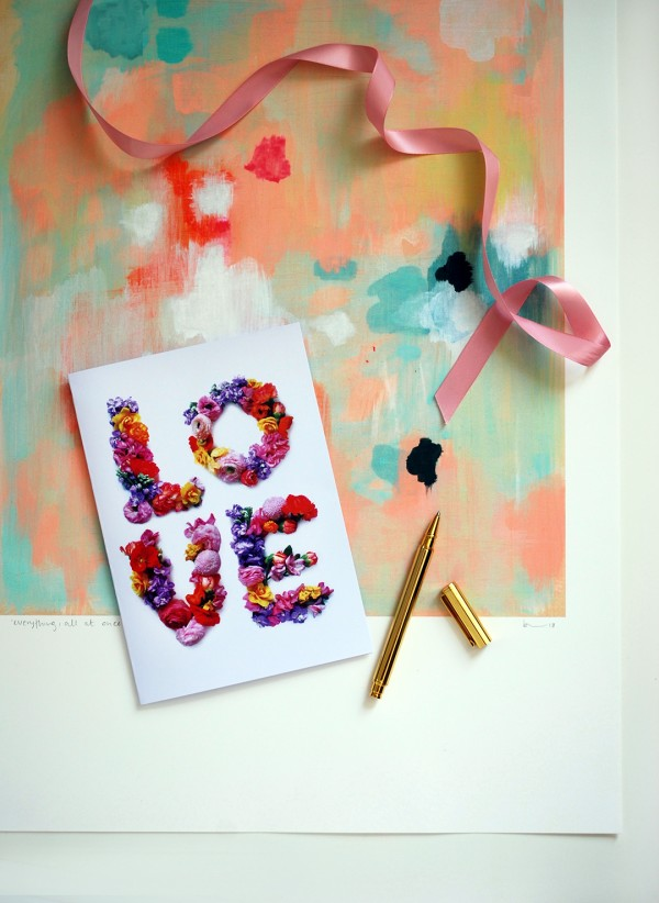 FREE printables: Valentines Day - LOVE greeting card. Photography and design: Lisa Tilse for We Are Scout.