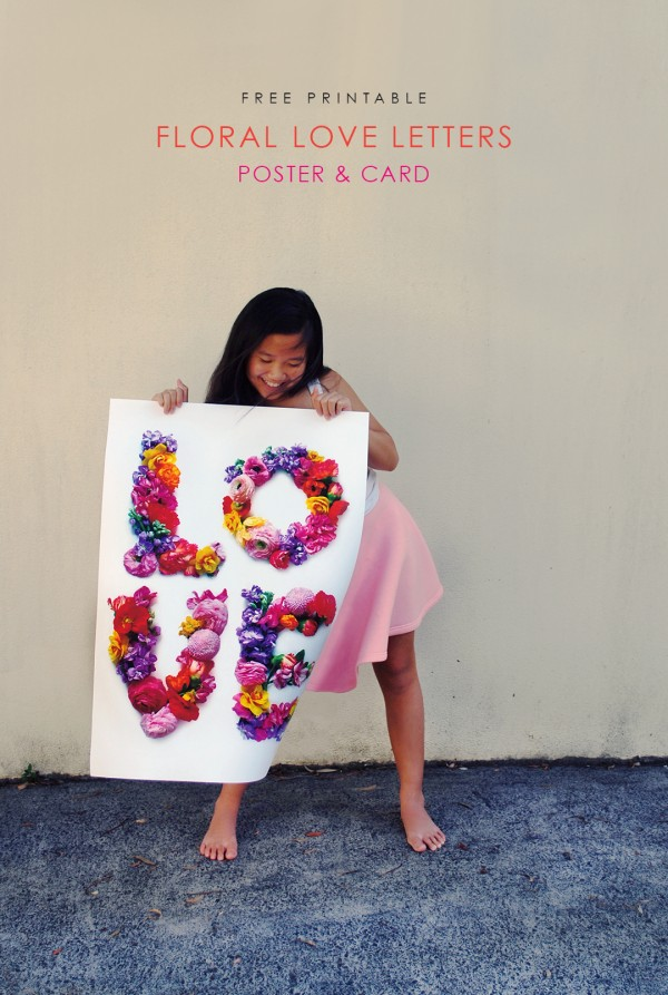 FREE printable to download - LOVE poster and greeting card. Perfect for Valentines Day.. Photography and design: Lisa Tilse for We Are Scout.