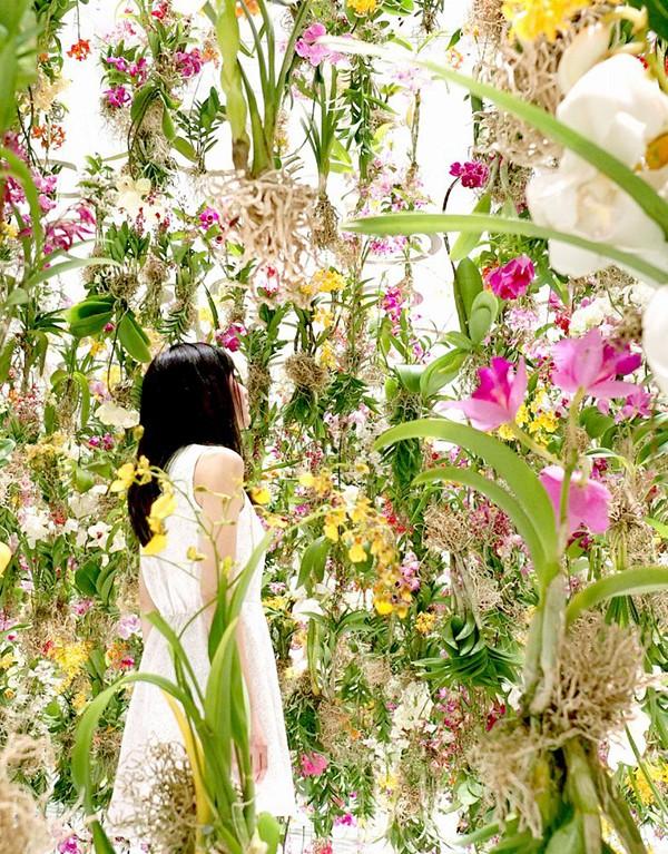 Floating Flower Garden art installation by TeamLab