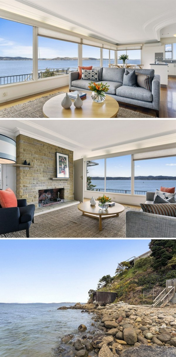 Hobart houses for sale - Sandy Bay home with boathouse