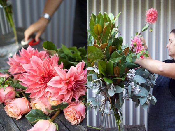 How to arrange flowers like a florist step 3