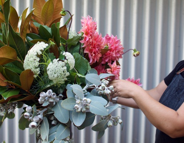 How to arrange flowers like a florist step 4