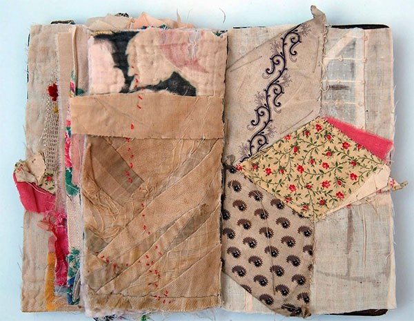 Textile artist Mandy Pattullo fabric book